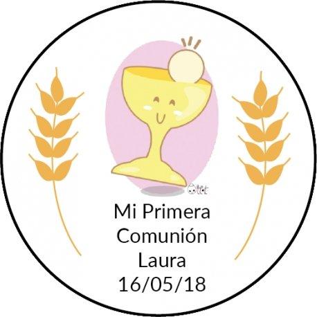 Autocollant Rond Communion (20)