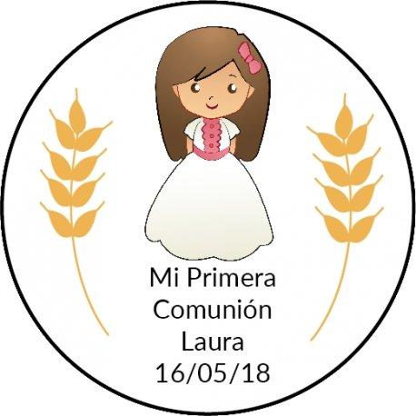 Étiquettes Rondes Communion (20)