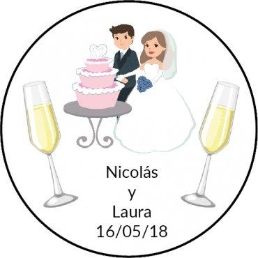 Étiquettes Autocollantes Mariage (20)