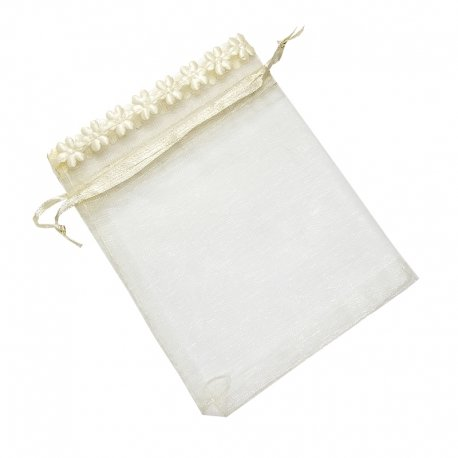 Pochette<strong> Organza </strong>pas<strong> Cher </strong>Beige 13 x 10