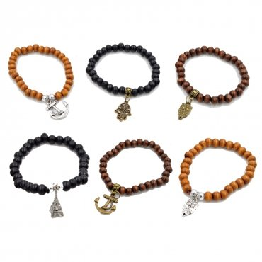 Bracelets Perles Bois