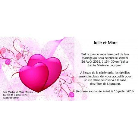 Faire Part Mariage Original Coeur