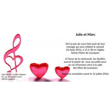 Faire parts de Mariage Originaux