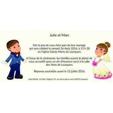 Invitation de Mariage pas Cher Mrs et Mr Pim