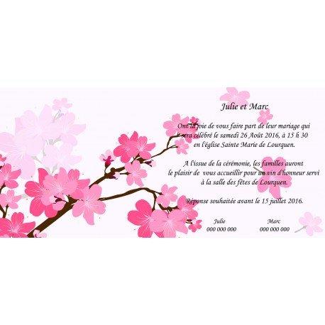 Faire Part Mariage pas Cher Fleur de Cerisier