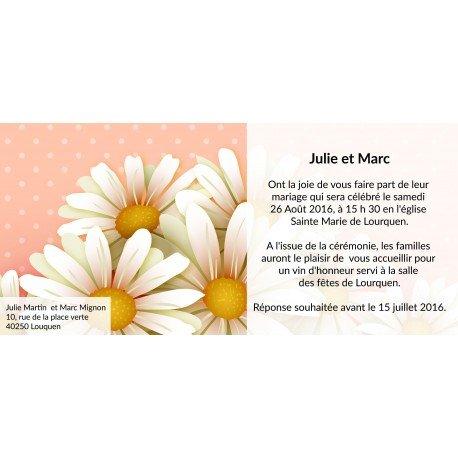 Faire Part Mariage Champetre Marguerite
