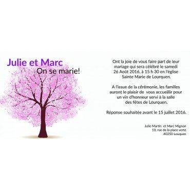 Faire Part Original Mariage Cerisier