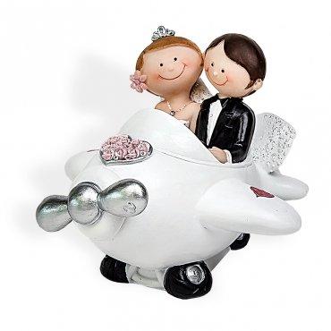 Figurines Mariés pour Gateau Avion