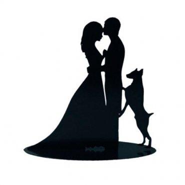 Figurine Mariage avec Chien