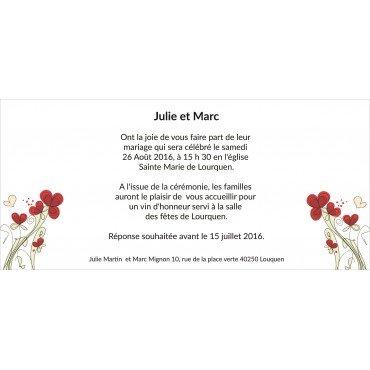 Faire Part Mariage pas Cher Petite Fleur