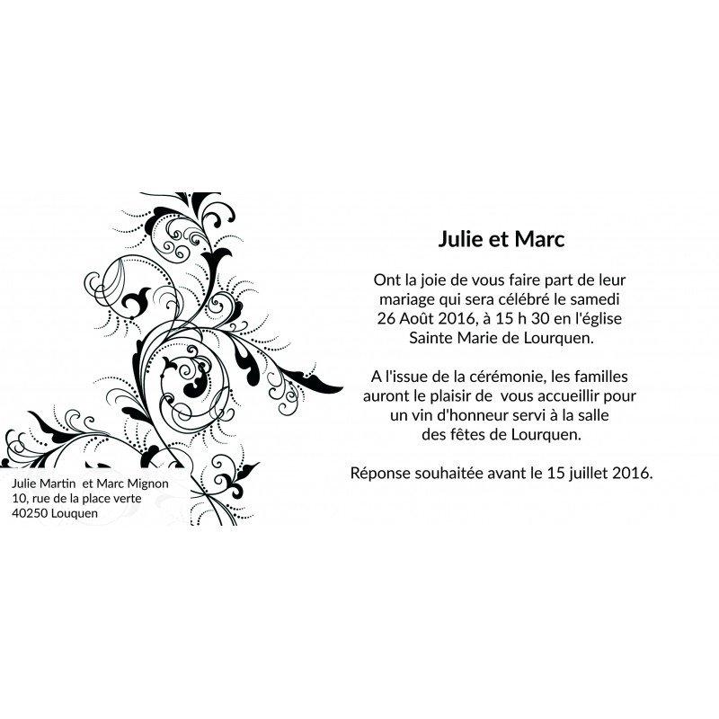 Carte dinvitation mariage baroque stopboris Image collections