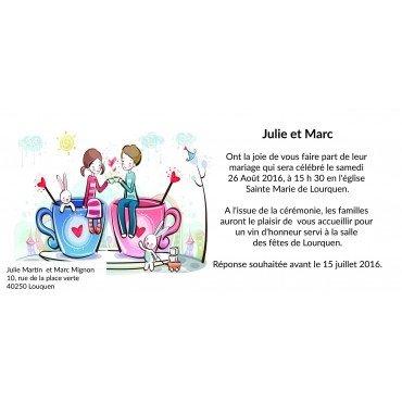 Invitation pour Mariage pas Cher