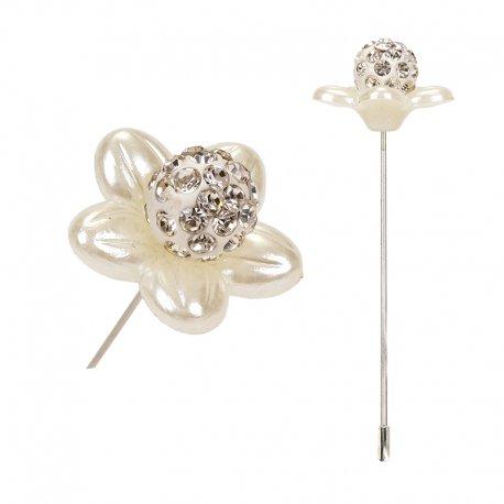 Broche Boutonniere Perle